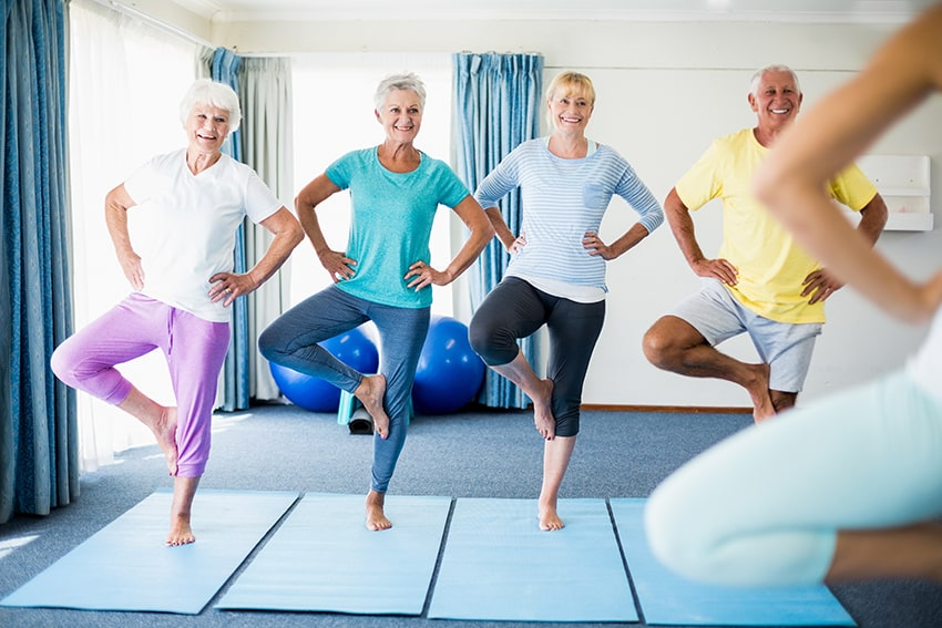 5 seniors find balance with yoga